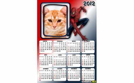 Moldura - Calendario 2012 Do Homem Aranha