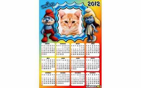 Moldura - Calendario Os Smurfs 2012