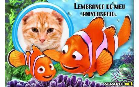 Moldura - Lembrancinha De Aniversario Do Nemo