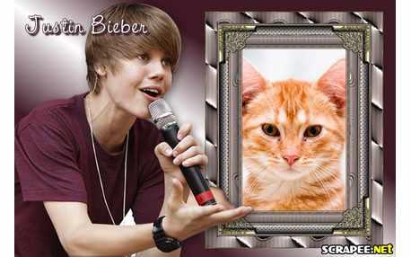 Moldura - Moldura Justin Bieber