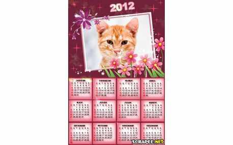 Moldura - Calendario Com Flores