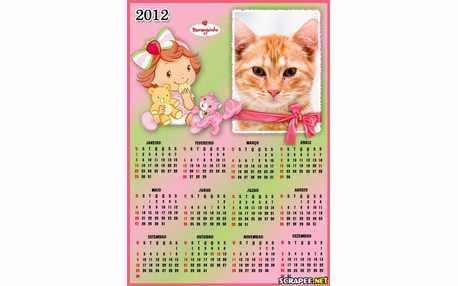 Moldura - Calendario Moranguinho Baby