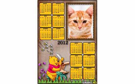 Moldura - Calendario Ursinho Pooh