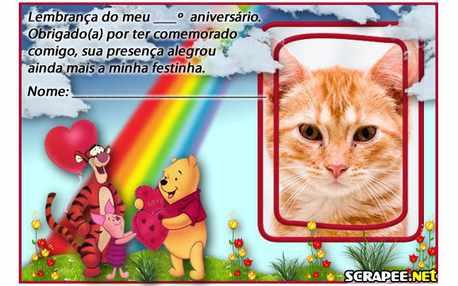Moldura - Lembracinha Ursinho Pooh