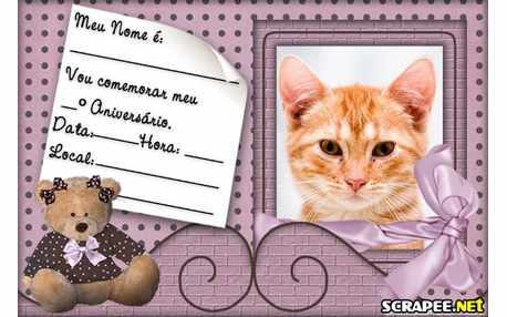 4934-Convite-Urso-Marrom-e-Rosa