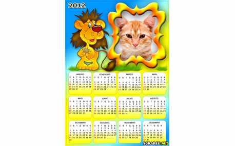 Moldura - Calendario De Leaozinho