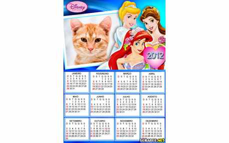 Moldura - Calendario Das Princesas
