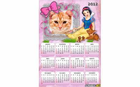 Moldura - Calendario Branca De Neve