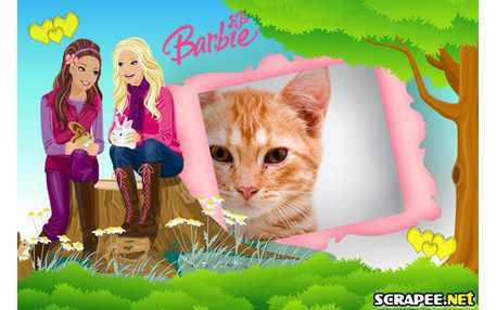 Moldura - Barbie Jovem