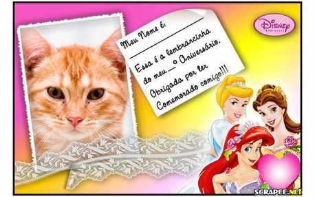 Moldura - Lembrancinha  Princesas Disney