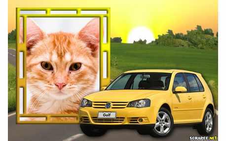 Moldura - Golf Amarelo 2012   Wolskswagen