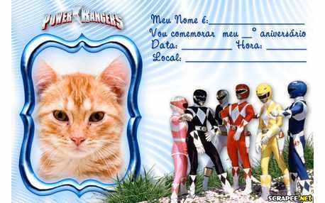 Moldura - Convite Power Rangers