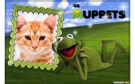 Moldura - Sapo Kermit Do Filme Muppets