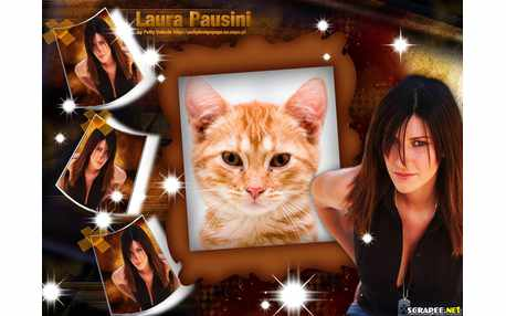 Moldura - Cantora Laura Pausini