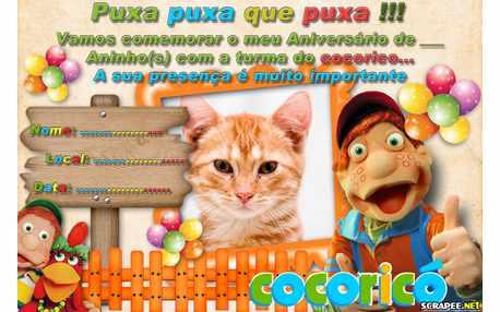 Moldura5251 Convite Cocorico para menino