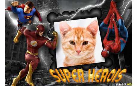 Moldura5274 Super Herois
