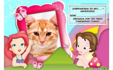 Moldura - Lembrancinha Princesas Baby
