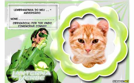 Moldura - Lembrancinha Lanterna Verde