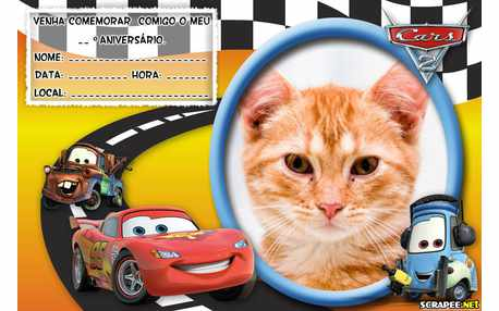 Moldura - Convite Filme Carros