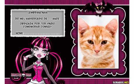 Moldura5358 Lembrancinha Monster High   Draculana