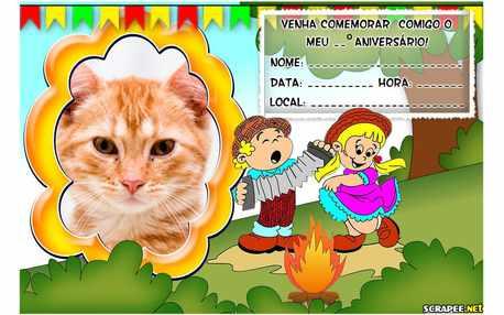 Moldura - Convite Festa Junina