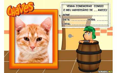 Moldura5367 Convite do Chaves