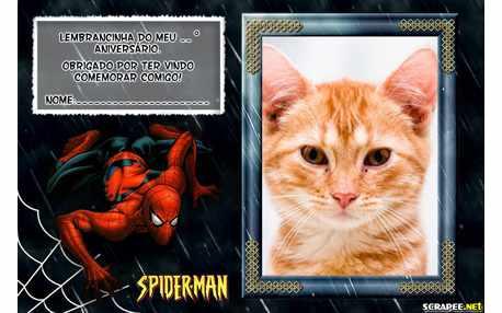 Moldura - Lembrancinha Homem Aranha