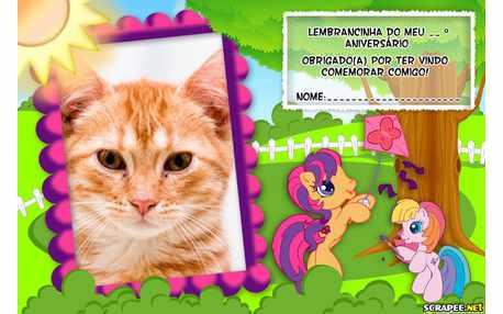 Moldura - Lembrancinha Little Poney