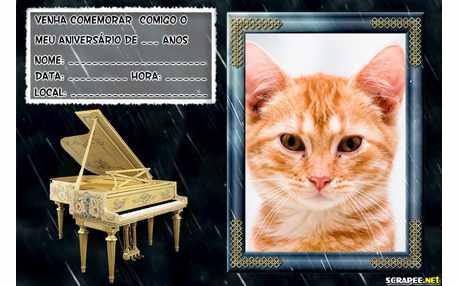 Moldura - Convite Tema Musical