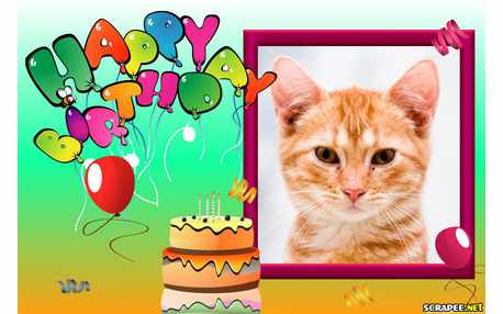 Moldura -  Frame Happy Birthday