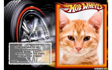 Moldura - Lembrancinha Do Hot Weels