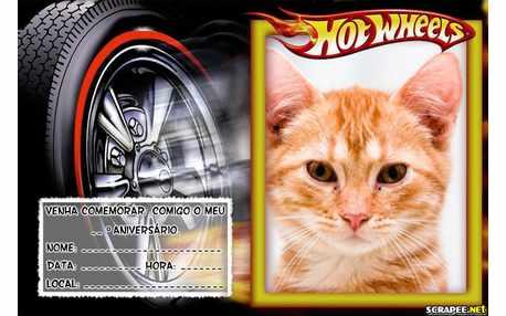 Moldura - Convite Hot Weels