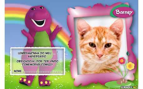 Moldura - Lembrancinha Do Barney