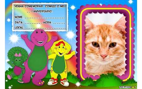 Moldura - Convite Do Barney