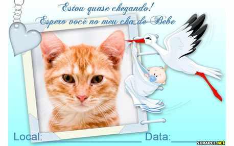 Moldura - Convite Cha De Bebe Menino