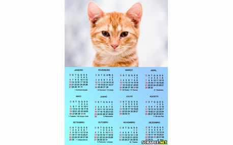 Moldura - Calendario Azul Para Foto