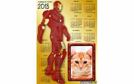 Moldura - Calendario Homem De Ferro 2013