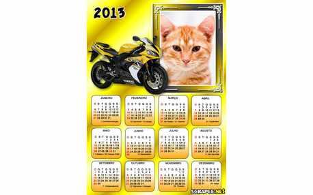 Moldura - Calendario Moto Yamaha 2013