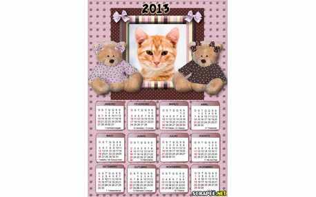 5752-Calendario-Urso-Marrom-e-Rosa-2013