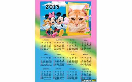 Moldura - Calendario Turma Do Mikey 2013