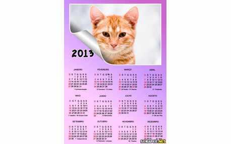 Moldura - Calendario Lilas 2013