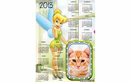 Moldura - Calendario Da Sininho 2013