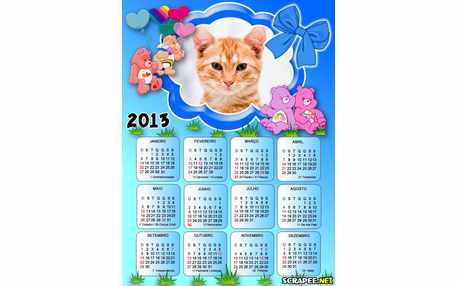 Moldura - Calendario Dos Ursinhos Carinhosos