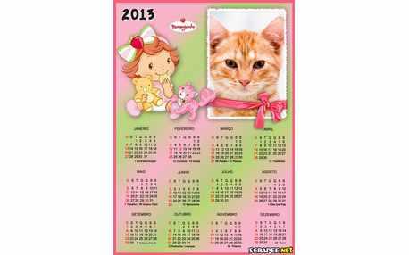 Moldura - Calendario Moranguinho Baby 2013