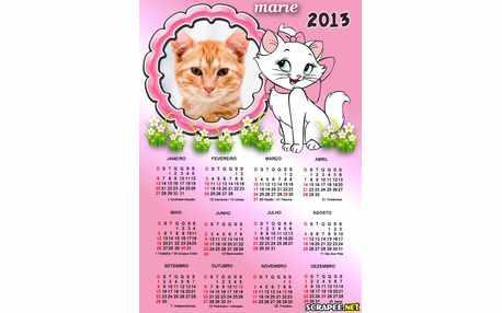 Moldura - Calendario 2013 Da Marie