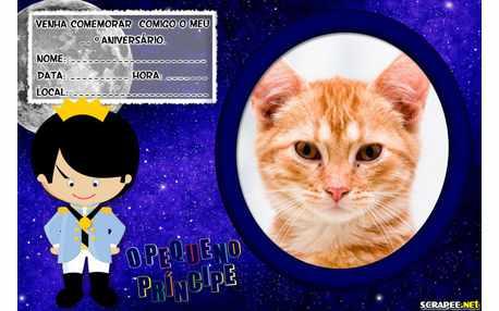Moldura5645 Convite Pequeno Principe