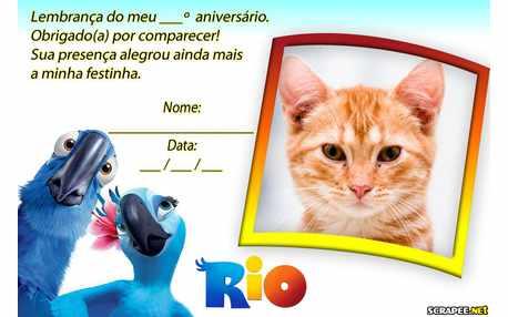 Moldura - Lembrancinha Filme Rio
