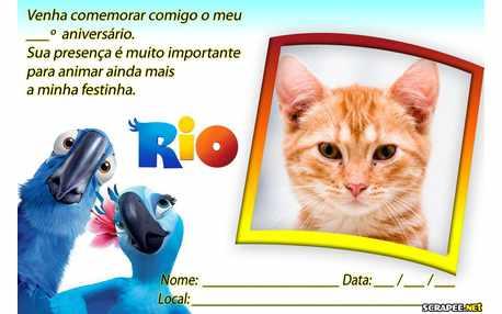 Moldura - Convite Filme Rio