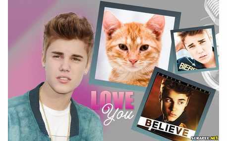 Moldura - Justim Bieber Novo