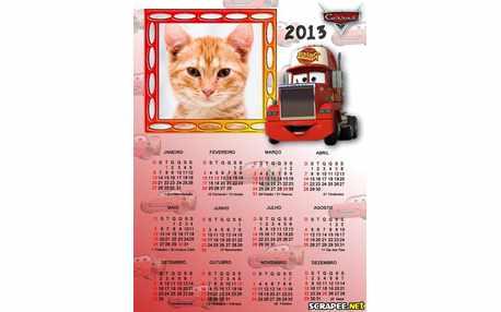 Moldura - Calendario Caminhao Filme Carros